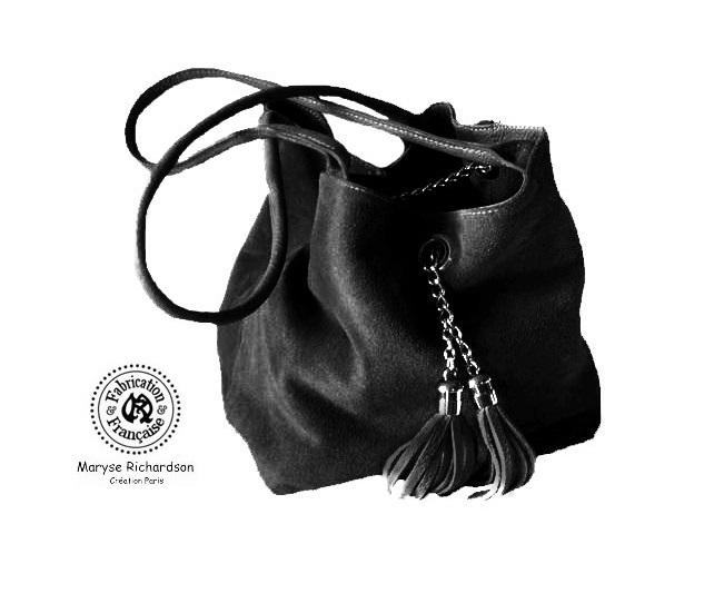noir sur velours en commande reversible sac cuir qxaEXPwX4