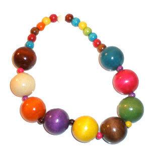 collier de perle en bois