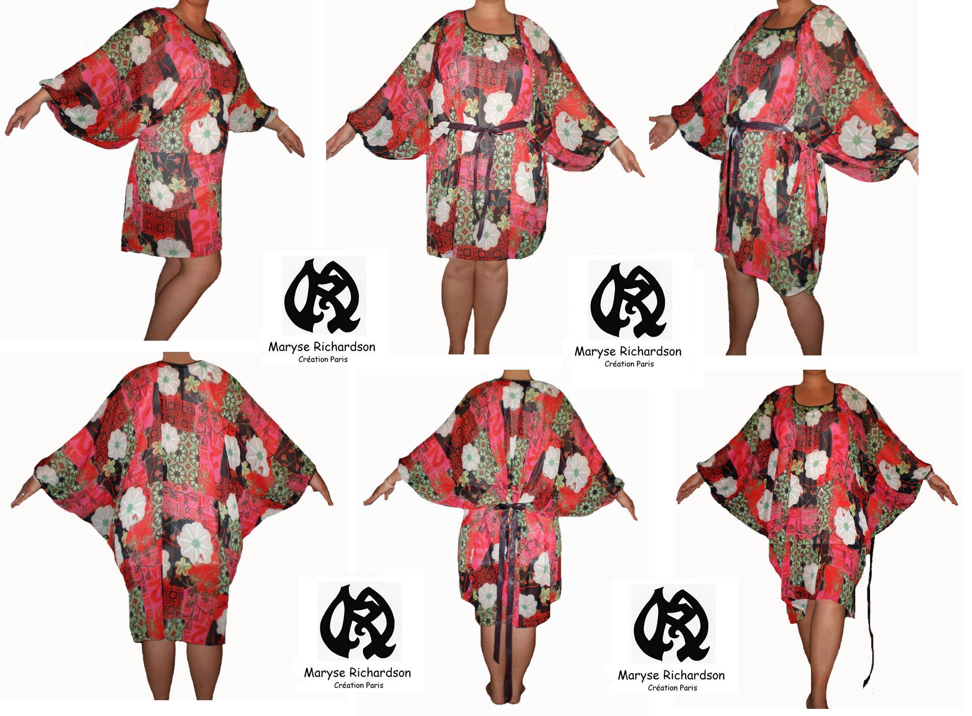 Robe tunique en voile