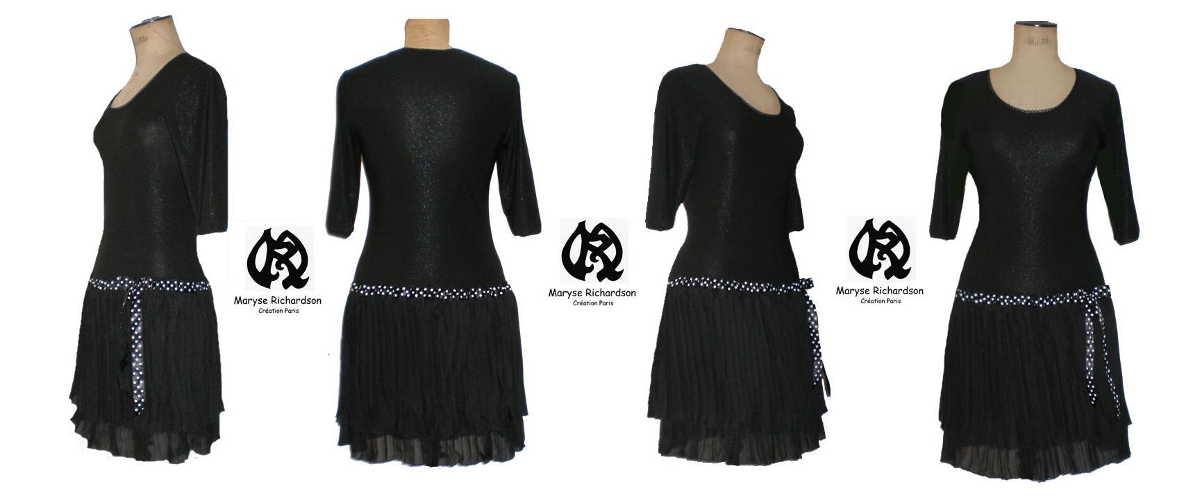 Robe noire et blanche taille 48