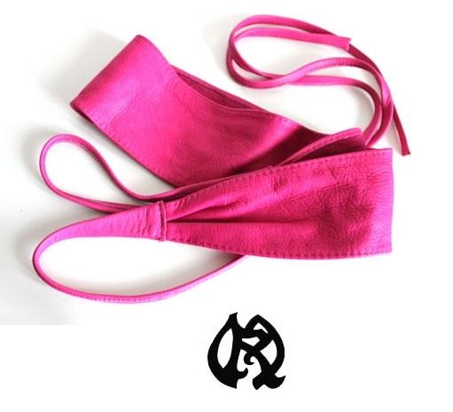ceinture tressee elastique rose fushia femme 809ca8e0fc2