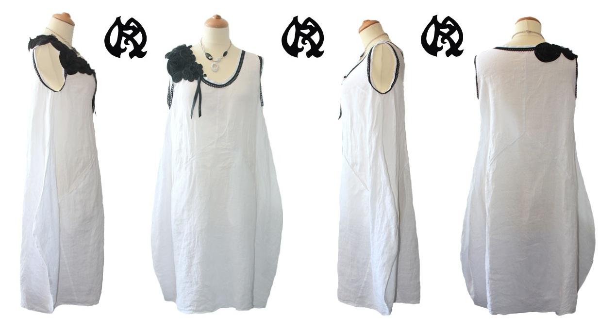 Préféré White Dresses: Robe Blanche Courte En Lin &MX_17