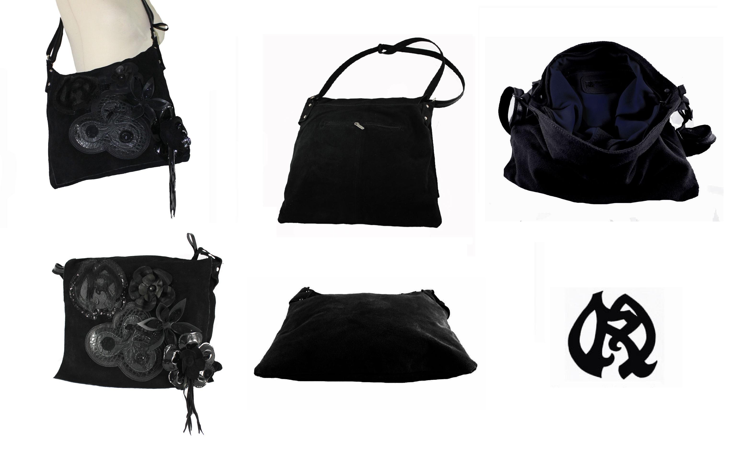 sac a main daim noir norma bunch blog. Black Bedroom Furniture Sets. Home Design Ideas