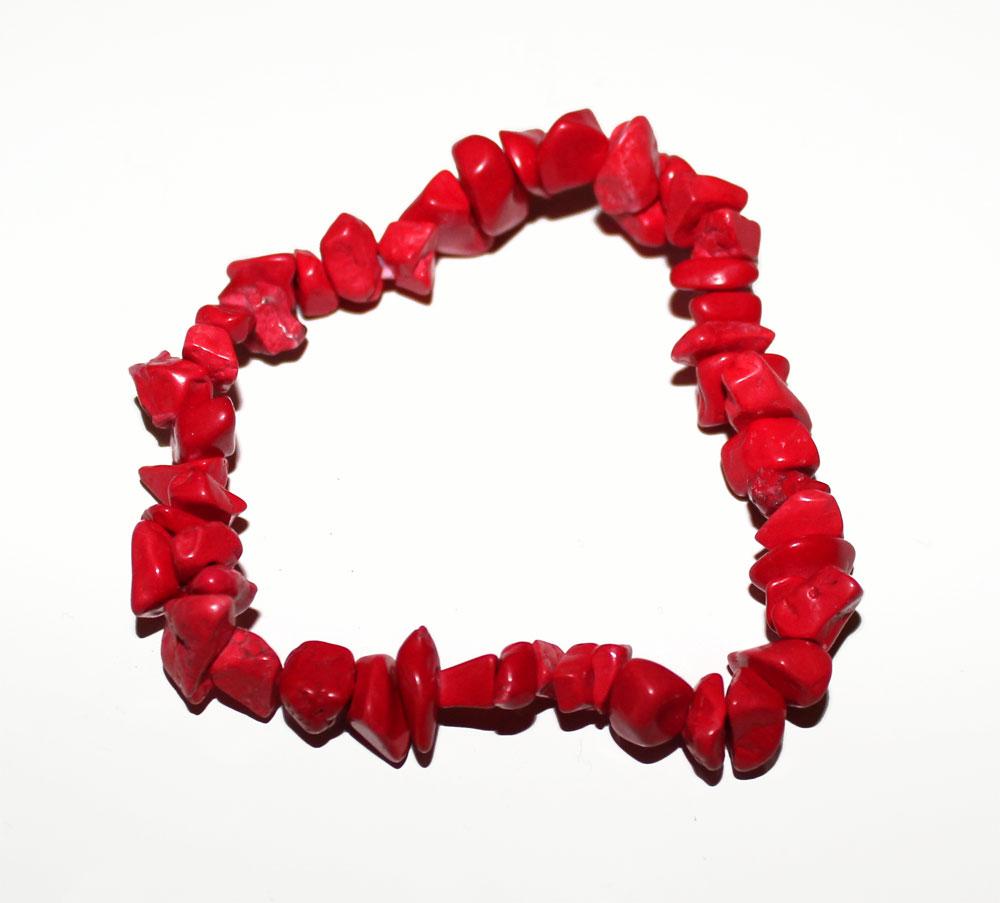 bracelet en perles de petites pierres rouges asym triques mont es sur lastique taille unique. Black Bedroom Furniture Sets. Home Design Ideas