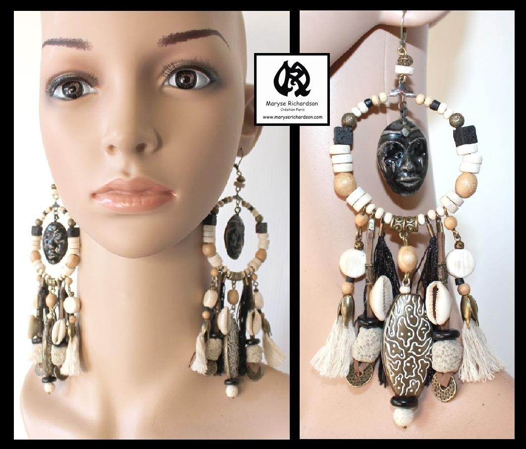 Boucles d'oreilles style ethnique