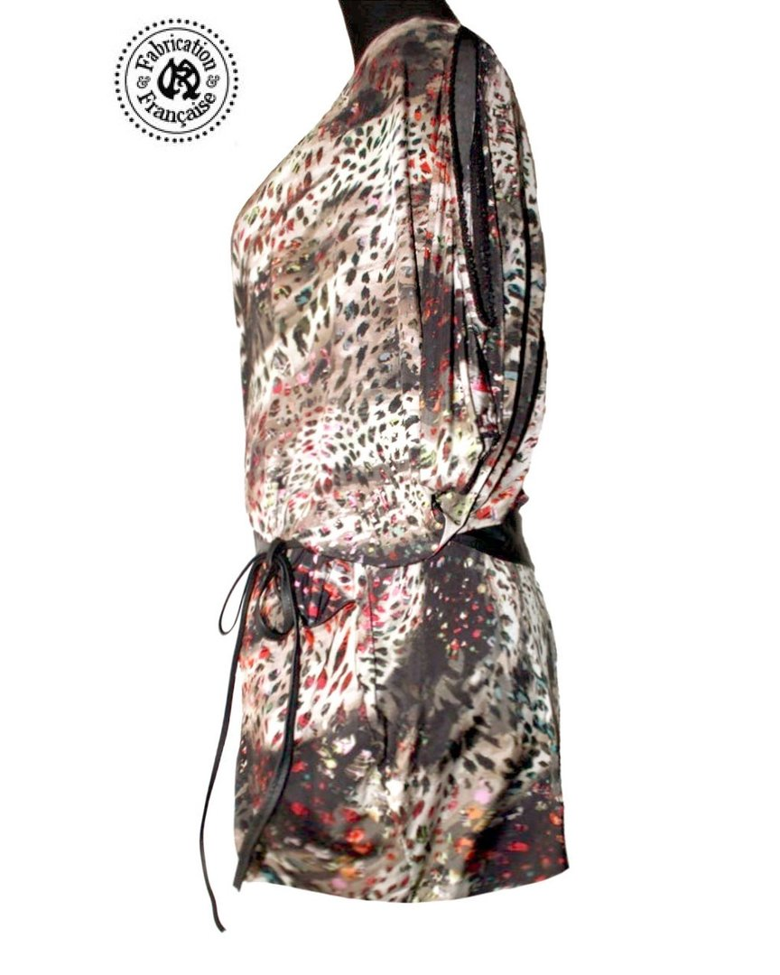 Robe tunique fluide jersey lycra femme grande taille imprimé style ... - Style Ethnique