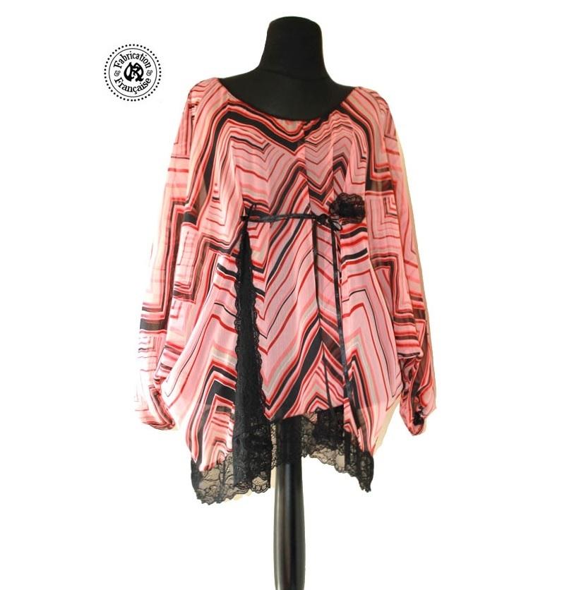 tunique blouse fluide voile imprim psych d lique. Black Bedroom Furniture Sets. Home Design Ideas