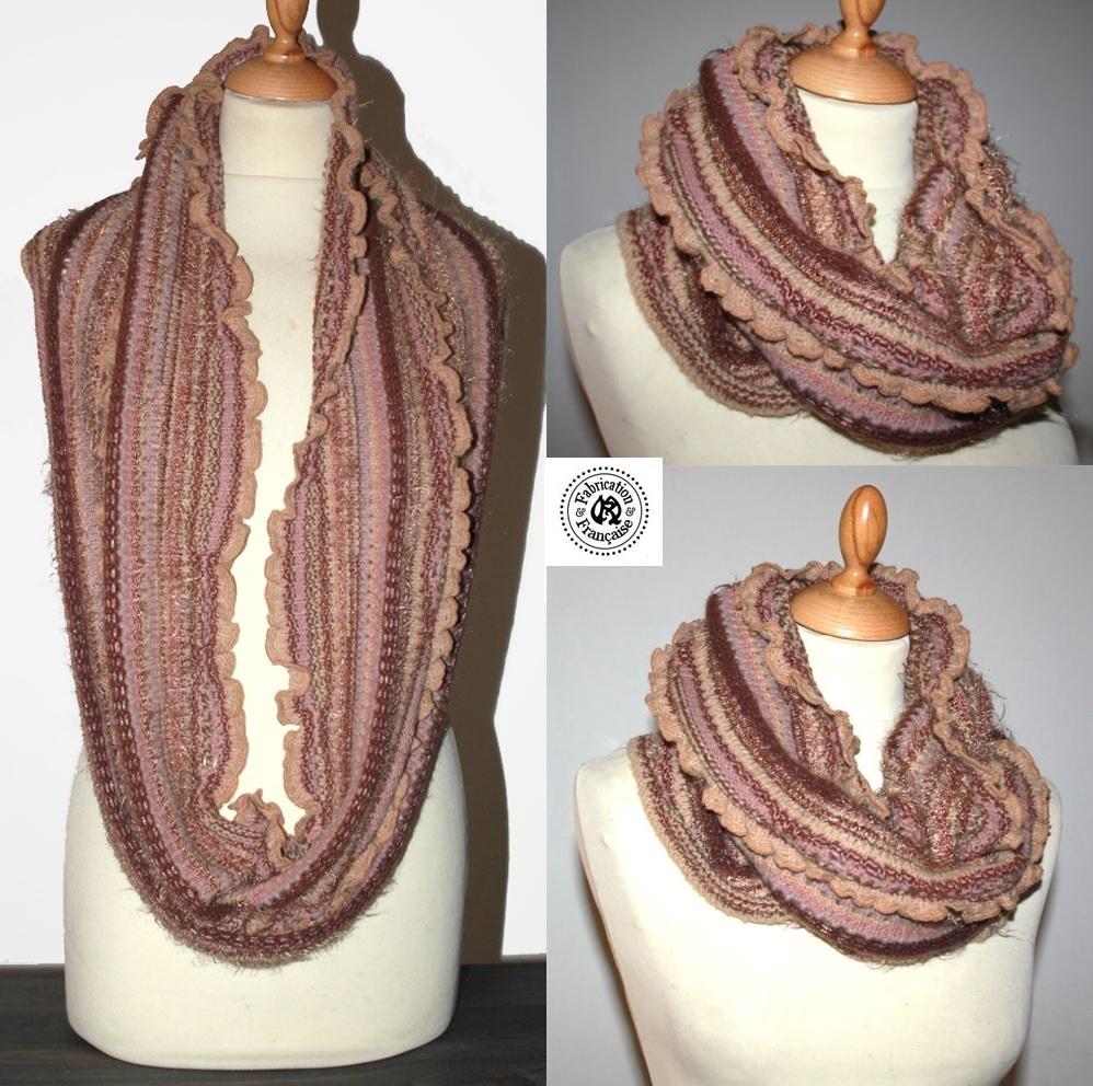 Echarpe snood en laines douces m lang es multicolores for Createur 3d