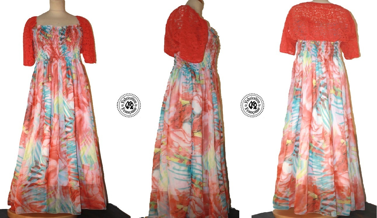 robe voile fluide