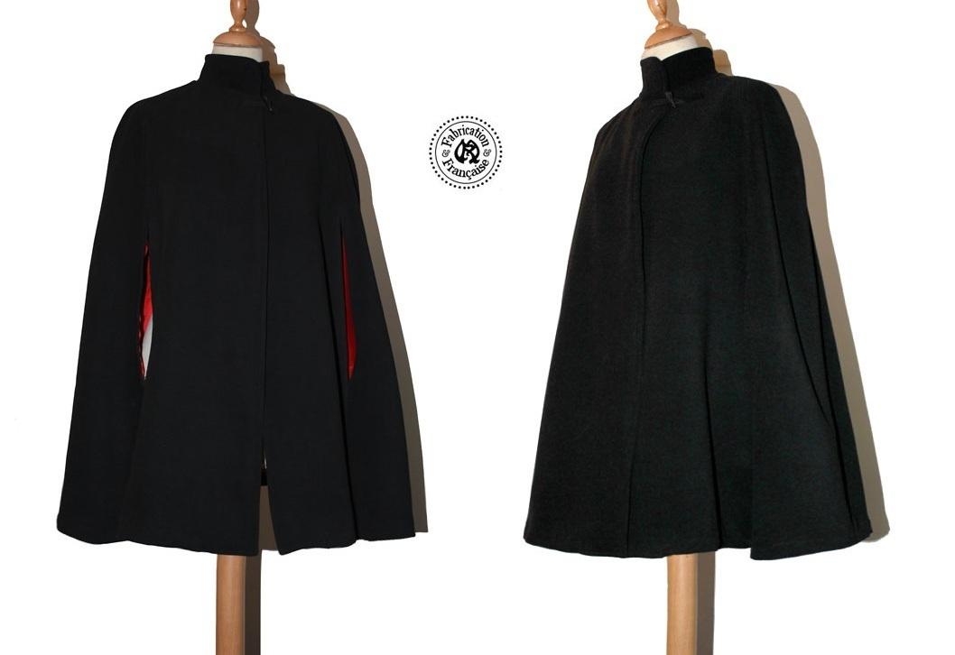 cape manteau laine m lang e femme grande taille et couleur au choix maryse richardson. Black Bedroom Furniture Sets. Home Design Ideas