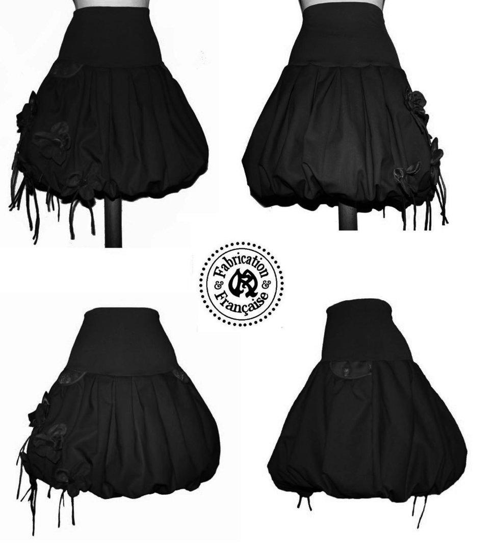 détaillant en ligne a2233 a979b Jupe boule noire style couture créateur total noir sur ...