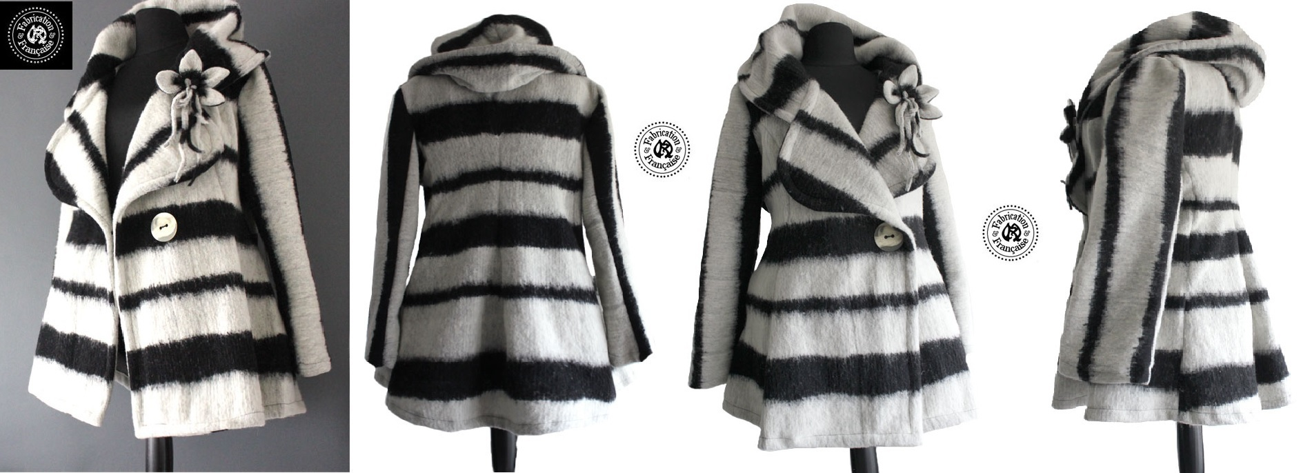 veste caban laine ecru et noir 4 vues bis.jpg 0be7afeec91
