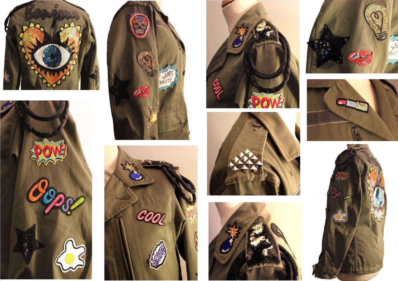 Veste militaire femme createur
