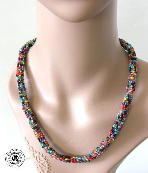 collier perle de rocaill