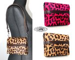 Mini purse shoulder bag modular leather cowhide calf cowhide leopard style size 16 x 13 x 3 cm color