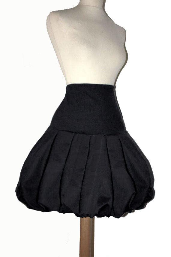 Jupe Boule Noire Style Simple Sur Mesure Grande Taille Femme Maryse Richardson Creations Paris